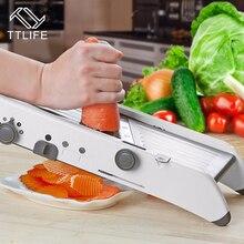 TTLIFE Multifuncional Ajustable Mandoline Vegetable Segmentaciones De Cortador de Verduras Manual de Patata Zanahoria Rallador de Frutas Vegetales Herramientas