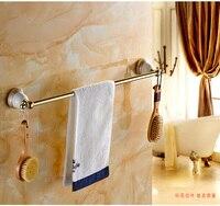 Hot Sale Porcelain Solid Brass Golden 60cm Single Towel Bar Towel Holder Towel Rack Bathroom Accessories