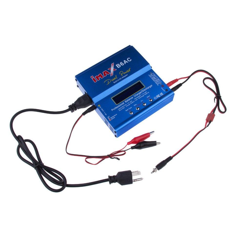 Alta calidad IMAX B6 AC 80 W B6AC Lipo NiMH 3 S/4S/5S RC batería balance cargador UE US au UK plug cable de alimentación