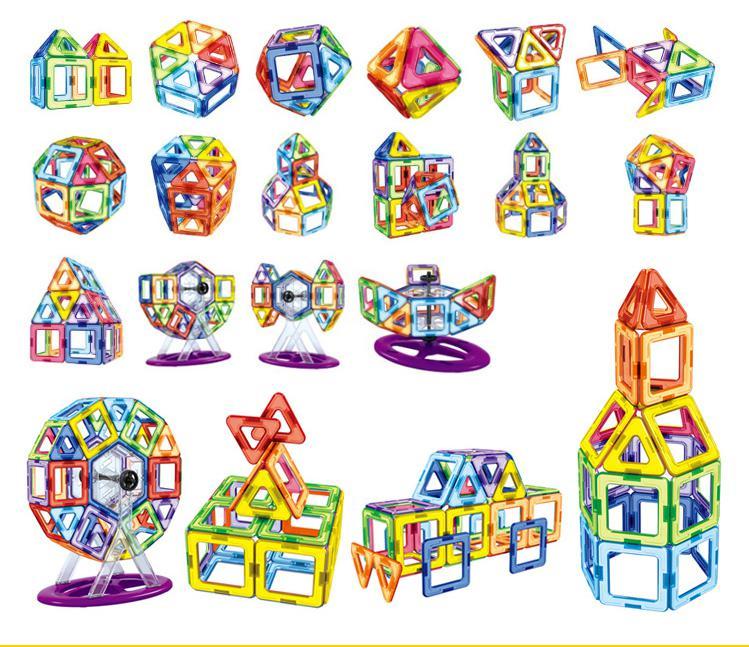 Animaux Blocs De Construction Magnétiques 62 pièces bricolage Blocs De Construction Magnétiques Jouets Pour Enfants Éducatifs Briques 3d Magnétique Designer