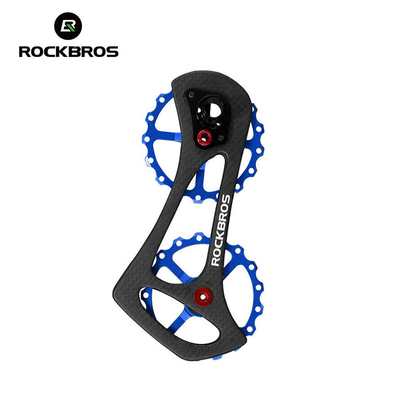 ROCKBROS углерода волокно Велосипедный спорт Задний переключатель Шкивы колеса Т 17 т велосипед жокей колесо для Shimano 6800 6870 9070 9000 запчасти