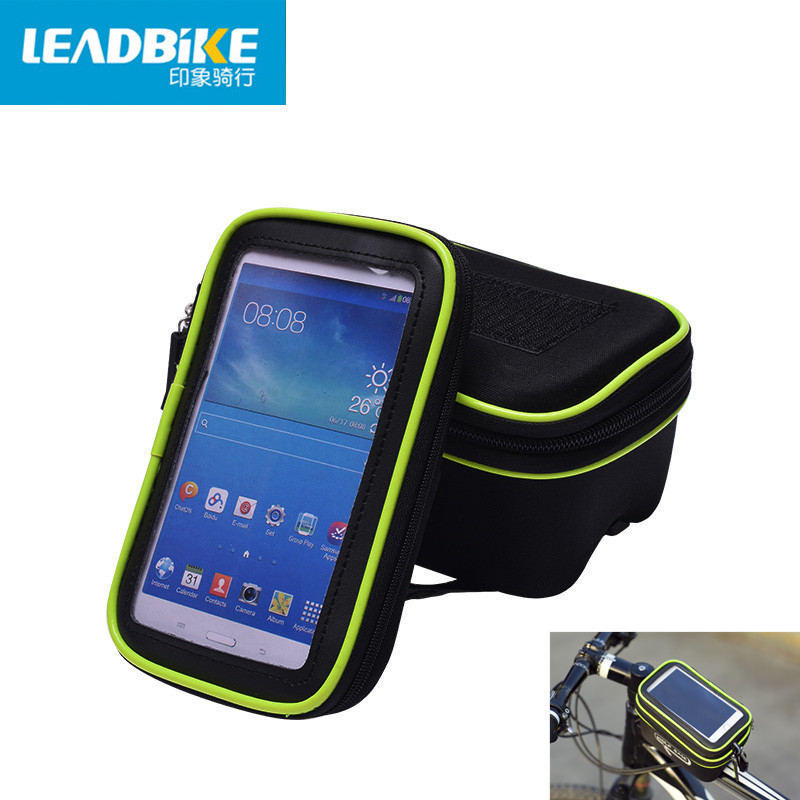 Leadbike Bicycle Bag Top Front Frame Tube Bag MTB Road Bike Bag Touchscreen Phone Case For 5.5 Mobile Phone Cycling Accessories