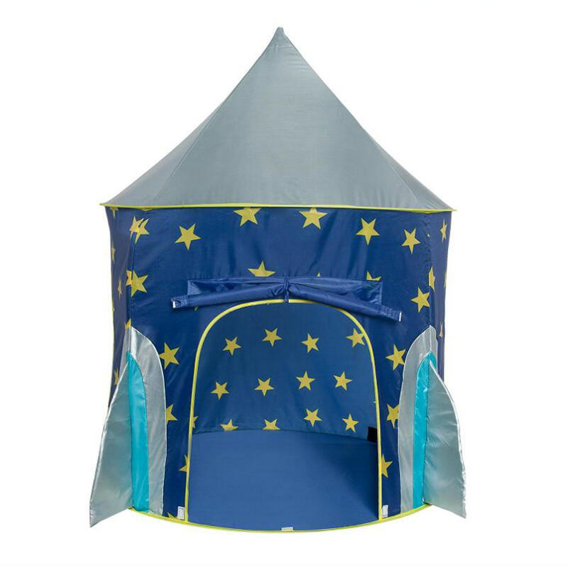 Rocket Ship Play Tent For Kids multicolor Spaceship Indoor Outdoor Playhouse Space Baby Tents Children Toy House Games