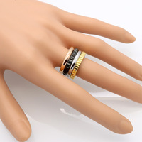 Top Quality 925 Sterling Silver Bagues Infinity Rings For Women Six Types Geometric Black Enamel Anel