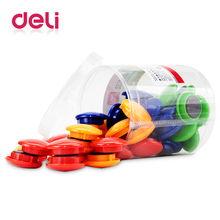 Deli 48pcs/barrel 4 Colors Magnetic Pins teaching magnetic pins Whiteboard Diameter 30mm School And Office stationery 8725