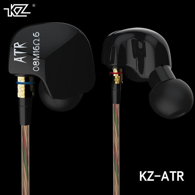 New Original KZ ATR In Ear Earphones HIFI KZ ATR Stereo Sport Earphone Super Bass Noise Canceling Hifi Earbuds With Mic