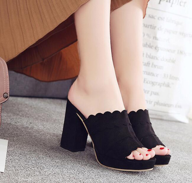 2019 Elegant New Pointed high-Heeled Shoes respectively 5CM 7CM 9CM high Heels with Suede sub-sfoes Woman Shoes,5 cm high Heels,4