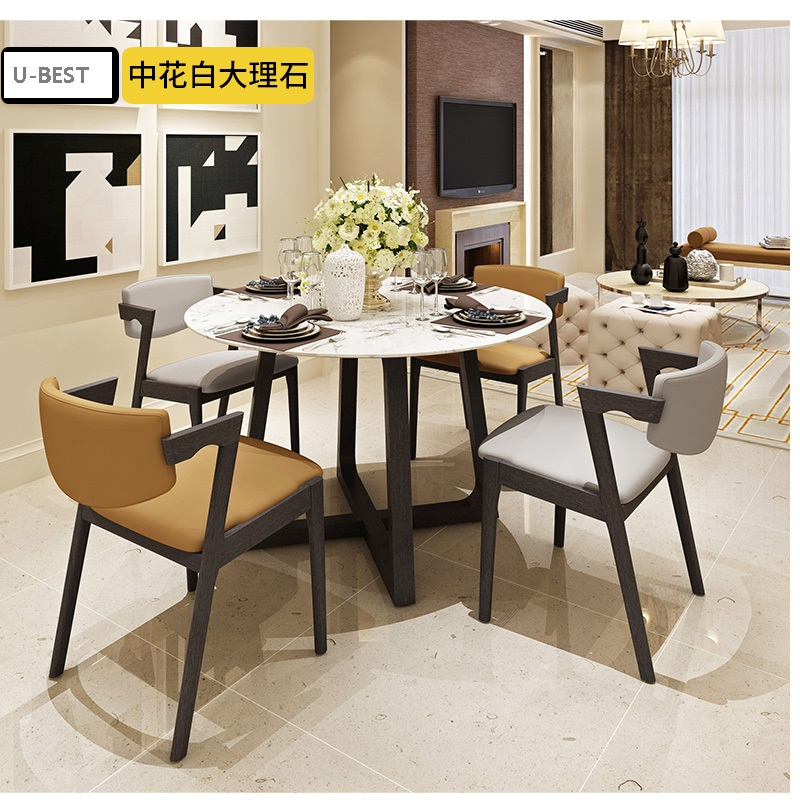 US 318 0 U BEST Luxury Restaurant Furniture Italian Carrara White Marble Dining Table Designer Post Modern Minimalist Conference Table In Dining
