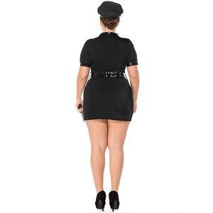 Image 5 - Plus größe Sexy Polizei Frauen Kostüm Halloween Polizistin Sexy Anzug Cosplay Polizist Erwachsene Phantasie Kleid Outfits