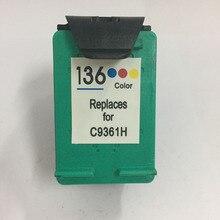 1PC C9361HE Ink Cartridge For 136 HP136 DJ 5440 Psc 1510 Photosmart 7830 Printer