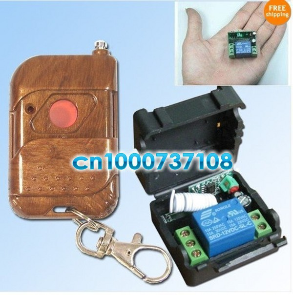 Free shipping wholesale 12V 1ch rf wireless remote control switch system Electric Control Lock/auto door / auto window z-wave