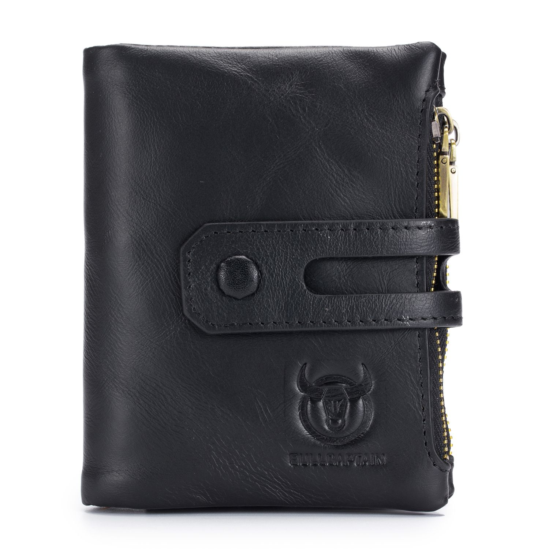 BULLCAPTAIN Hot Genuine Leather Men Wallets Credit