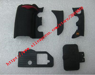 Free Shipping D700 5 PIECE FRONT REAR GRIP RUBBER with USB rubber SET NEW REPAIR PARTS