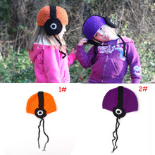 2017 New Children Lovely Headset Music Earflap Cap Wool Manual Knitted Winter Warm Hat Baby Photography Props For 0-2 Years