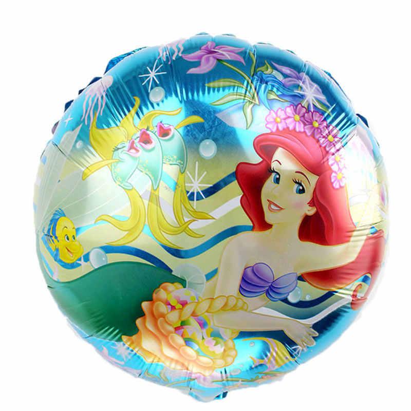 1 pc A Pequena Sereia Ariel de princesa dos desenhos animados balão de hélio foil balões decoração globos do aniversário dos miúdos fontes do partido
