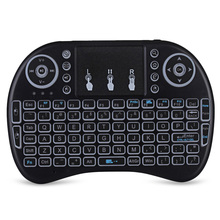 IPazzPort I8 Multifunction Portable 2.4GHz Wireless QWERTY Backlit Keyboard With Touchpad Mouse For Smart Phone PC Tablet TV Box