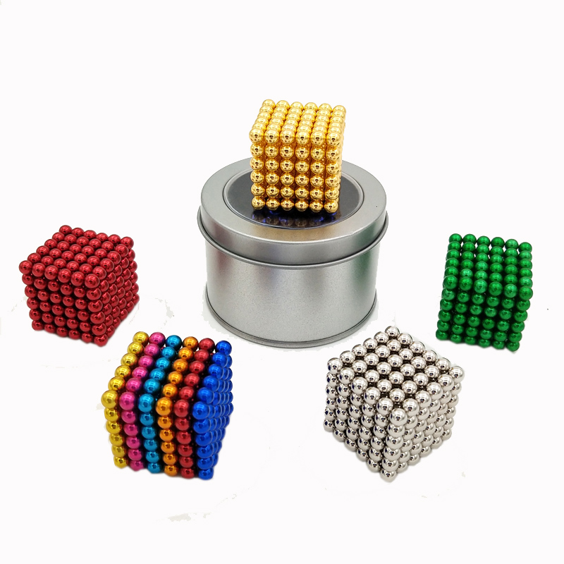 224 pcs NdFeB Magnet Balls 5mm diameter Strong Neodymium Sphere D5 ball Permanent Magnets Rare Earth Magnets with Gift Box Bag 5mm neodymium magnet sphere diy puzzle set black 216 pcs