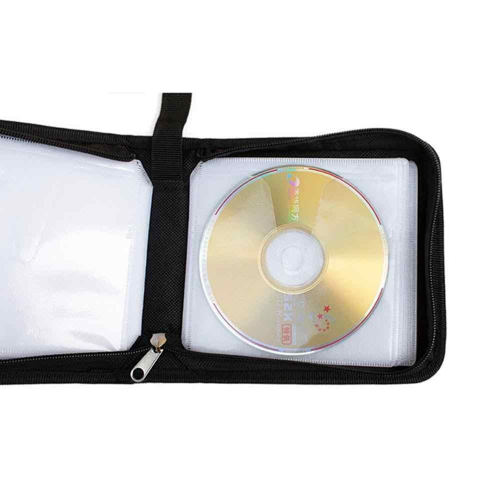 40 miếng DA PU cao cấp Giả Da CD Túi Đựng ĐĨA CD Trên Ô Tô Hộp DVD Đĩa Túi Lưu Trữ Di Động Hỗ Trợ bán buôn