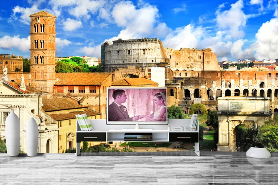 Us 1479 49 Offcustom Italy Houses Ruins Rome Ancient Rome Cities Wallpapers Papel De Paredeliving Room Tv Wall Bedroom Photo Mural Wallpaper In