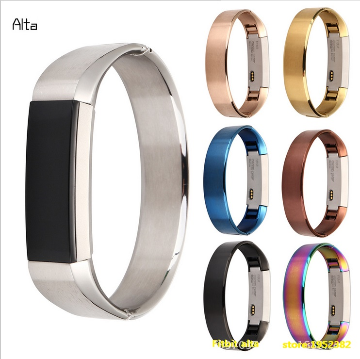 New Arrival 4 Colors Metal 316 Stainless Steel Watch Band Replacement Strap For Fitbit Alta Tracker Bracelet High Quality high quality stainless steel bracelet watchband strap for fitbit alta watch band wristband replacement band strap
