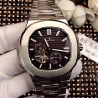Luxury Brand New Automatic Mechanical Men Watch Sapphire Rose Gold Tourbillions Watches Silver Black Blue Jumbo Skeleton watch