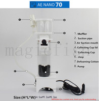 Reef Skimmer NANO 70 Aquarium Filter Seawater coral skimmer protein separation Small cylinder protein separator