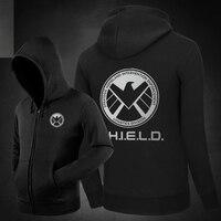Hot Agents of Shield Hoodies Hoody Sweatshirts Outerwear Unisex Cotton Zipper Coat Marval