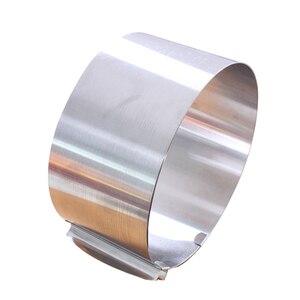 Image 5 - قابل للسحب طوق من الفولاذ المقاوم للصدأ رغوة حلقة كعكة الخبز أداة مجموعة حجم شكل قابل للتعديل خبز الفضة ل أدوات مطبخ