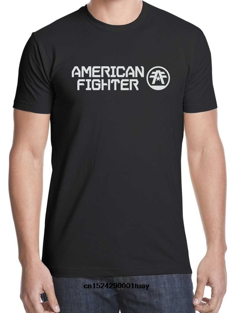 cecd04dc605199 American Fighter T Shirt Mens Round Neck Short Sleeves T-shirt Cotton  Bottoming T Shirt Casual Tops Fashion Clothing