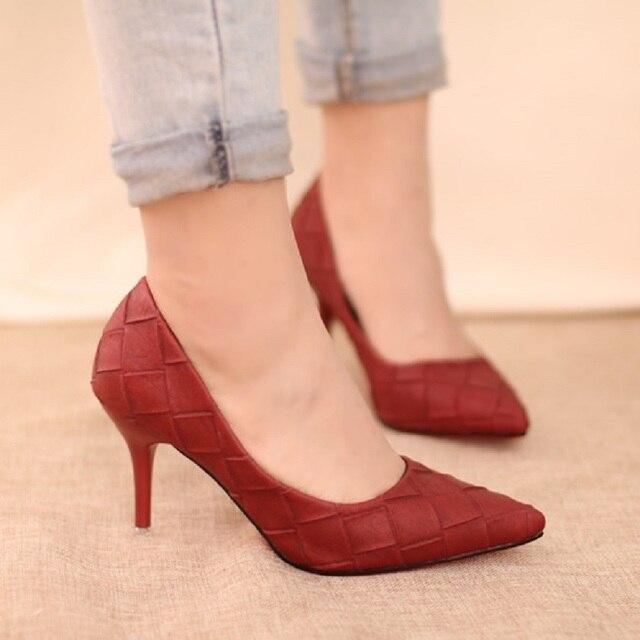 2016 весной и осенью новый женская мода отметил обувь женская сексуальные высокие каблуки уютный банкетный, бесплатная доставка