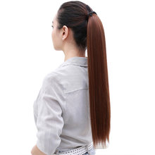 Feibin синтетический накладной хвост шиньон волос длинные прямые