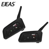 Dual Pack 2018 EJEAS V6 Bluetooth Motorcycle Intercom Headset Communicator Waterproof 1200m Interphone For 6 Riders
