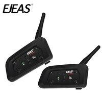 Dual Pack 2018 EJEAS V6 Bluetooth Motorcycle Intercom Headset Communicator Waterproof 1200m Interphone For 6 Riders