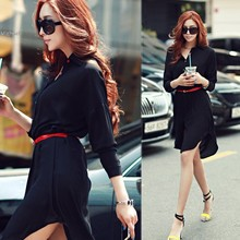 New Women Long Sleeve Chiffon Shirts Blouse Tops Lady Fashion Plus Loose Irregular Maxi Long Blouse