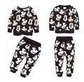 Boys & Girls niños ropa Sport Suit Mickey Minnie Mouse Cartoon impresión de algodón moda sudaderas + Pants de los cabritos usan