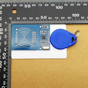 Image 4 - 1 zestaw MFRC 522 RC 522 RC522 RFID bezprzewodowy moduł IC S50 Fudan SPI Writer czytnik kart breloczek zestawy czujników 13.56Mhz dla Uno