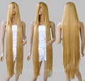 Wholesale& heat resistant LY free shipping>>200cm Long Rapunzel Tangled Light Golden Blonde Straight Cosplay Hair Wig