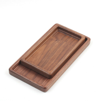 black walnut wood carving tray storage tray fruit plate dry tea plate jewelry storage Nordic home Style