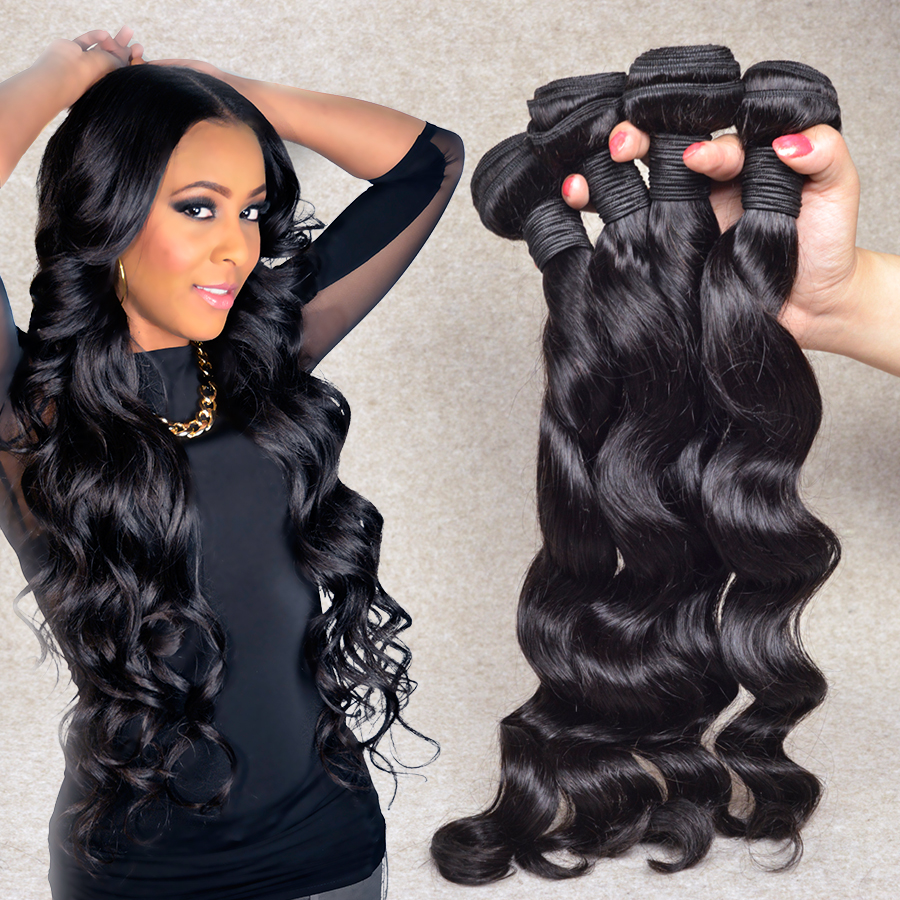 8A Brazilian Virgin Hair Loose Wave Brazilian Loose Wave Virgin Hair 3 Bundles Brazilian Human Hair Weave Extensions Beyo Hair