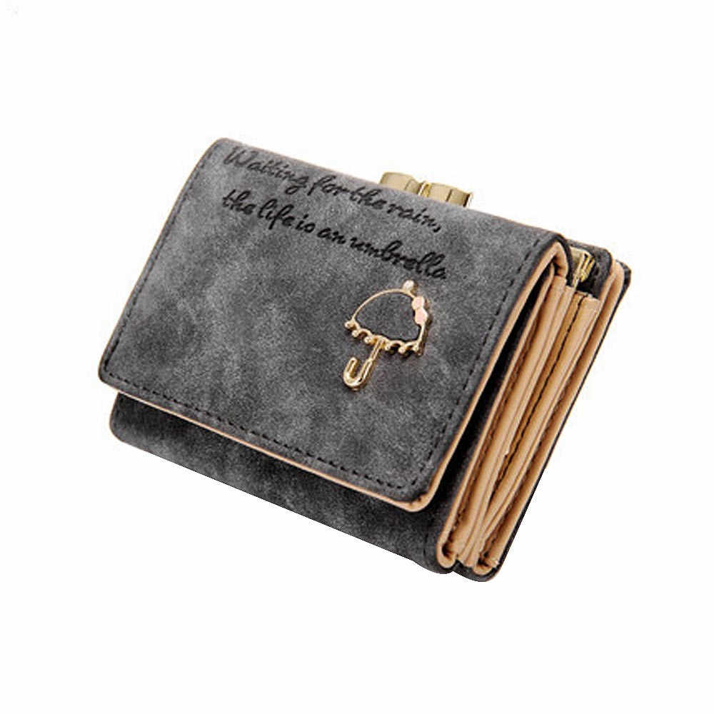 Long Wallets Luxury Purses Women Umbrella Leather Wallet Button Clutch Purse Girl Short Hand Bag Clutch Business Card Holder#L5%