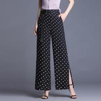 Summer new striped dot wide leg pants women 2019 women's thin wild casual pants high waist trousers female ol pantalones mujer