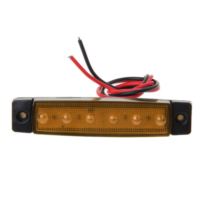 Nice Side Marker Light Lamp 1 Pair Dc 24v 6 Led Bus Van Truck Lorry Trailer Indicator 828 Promotion Automobiles & Motorcycles Truck Parts