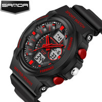 SANDA LED Digital Watch Men Military Sport Wrist Watches Men S 2017 Famous Top Brand Luxury