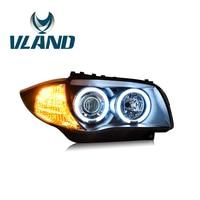 VLAND Factory For Car Headlamp For E87 Headlight 2004 2011 For 120i 130i LED Head Light H7 Xenon Lens+Plug And Play+Xenon Or LED