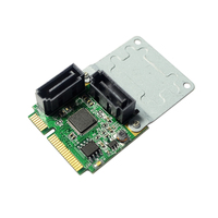 ASM1061 Chipset Mini PCI Express To 2 Port SATA3 0 Expansion Card Support SATA HDD SSD