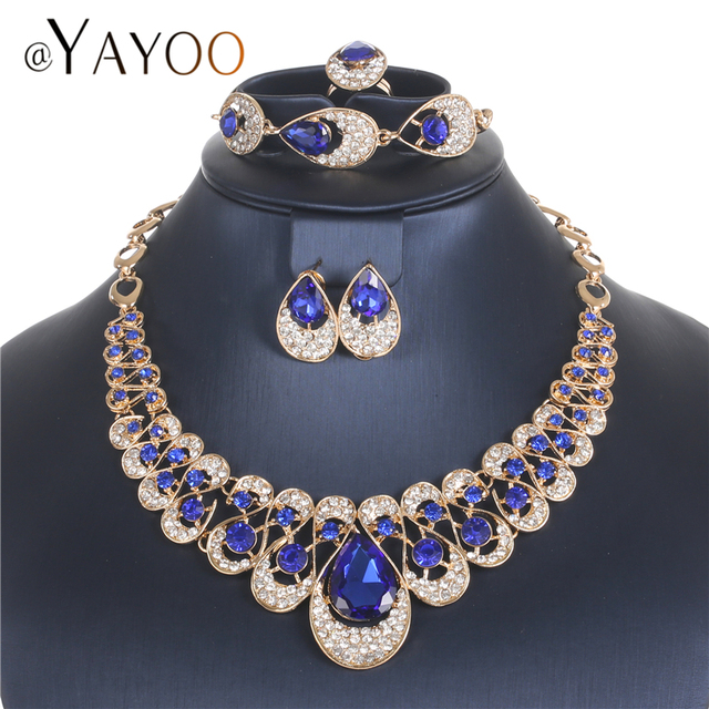 AYAYOO Jewelry Sets Fashion African Costume Jewelry Set Wedding Jewellery Sets F