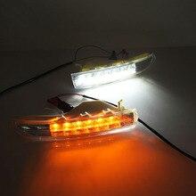2X светодиодный Габаритные огни для Volkswagen VW Passat CC 2009 2010 2011 2012 2013DRL противотуманные лампы с желтым сигнальные огни поворота
