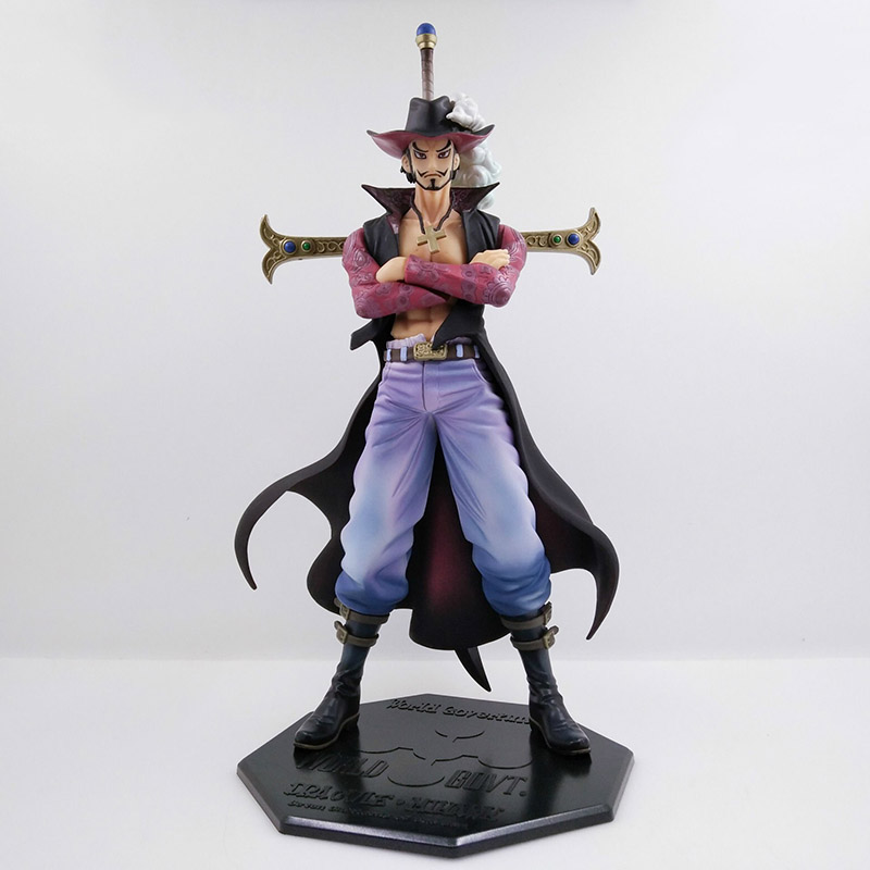 22cm One Piece Hot Pop Dracule Mihawk Action Figure Hawkeye PVC Anime Figures Collectable Boxed Model Toys Doll Gifts WX327 free shipping anime one piece dracule mihawk pvc action figure collection toy 6 15cm