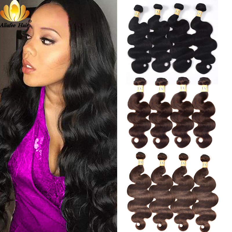 Aliafee Hair Peruvian Body Wave Weave 4 Bundles Deal 1b 2 4 Colored Hair Bundles Human