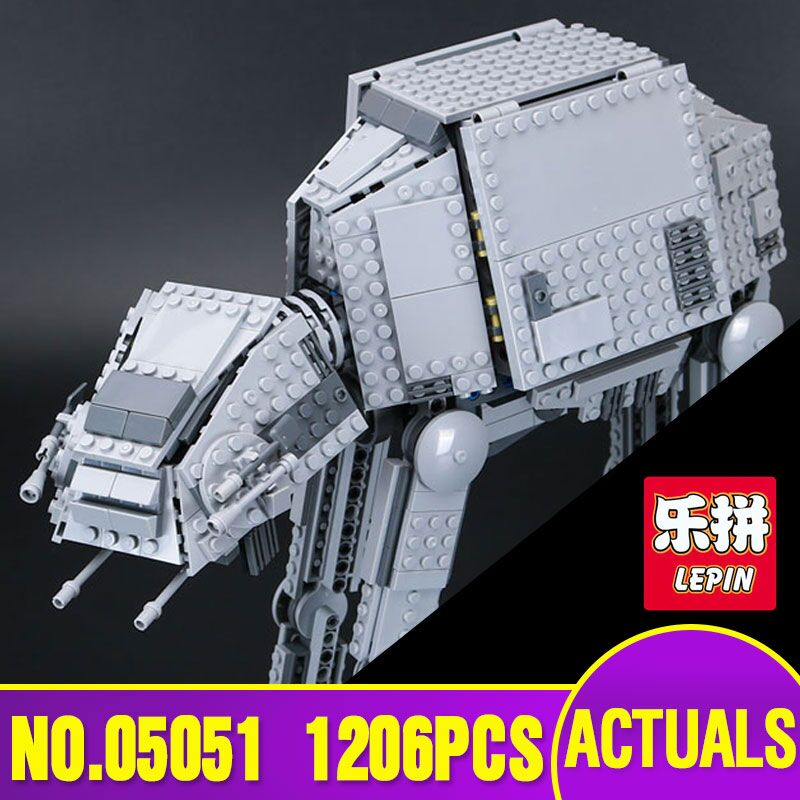 Lepin 05051 Star Genuine new War Series The AT Transportation Armored Robot AT Educational Building Blocks Bricks Toys 75054 herbert george wells the war of the worlds